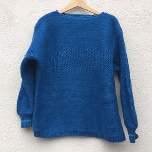 Esprit vintage wool sweater teal oversized chunky